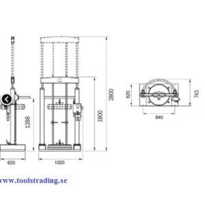 Fat Tankstation för fett för fat på 180-220 kg # MEC-012-1340