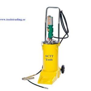 Fettpump Trycklufts kit på hjul   60:1 för 16 kg fat # MEC-013-1096
