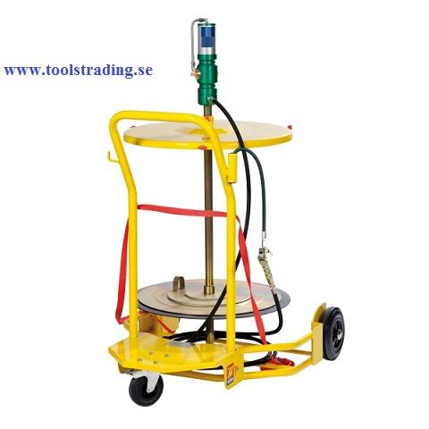 Smörjutrustning pneumatisk pump 60:1  för fat 180-220 kg