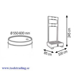 Fatskydds spill tank för spill passande 1 stfat 180 - 220 Lit #MEC-023-1925-000