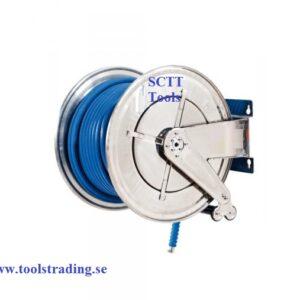 Slangvinda rostfri för vatten 150 ° C 400 bar med slang 40 m 3/8 # MEC-070-2604-340