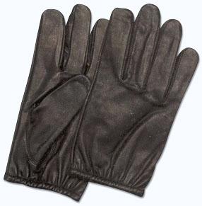 Läderhandske med kevlar