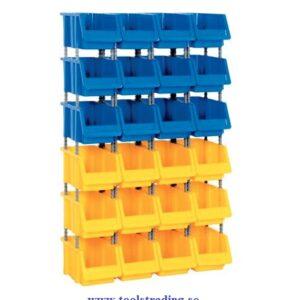 Kombinerad Set med 24 plastlådor #SMBL-SET-1100
