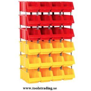 Kombinerad Set med 24 plastlådor #SMBL-SET-1120
