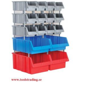 Plastbox ställ med 40 st plastlådor # SMBL-SET-1160