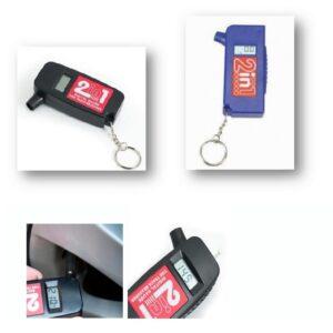 Mönsterdjups mätare 2-i-1 digital däcktryck