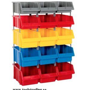 Kombinerad Set med 15 plastlådor #SMBL-SET-1180