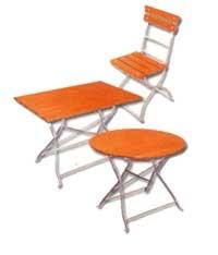 Trädgårdsbord och stolar # QT-12500