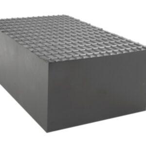Gummiblockpad 220 x 140 x 85 mm # 2789-165033H universalt gummiblockpad