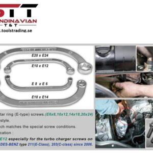 Torx Startmotornyckel sats E6 x 8, 10 x 12, 14 x 18, 20 x 24  # CMI-373