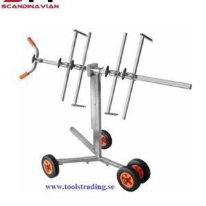 Dörrstativhållare på hjul för plåt och Lack #TEK-415
