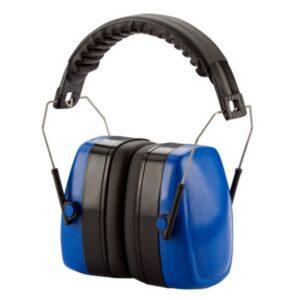 Hörselkåpor med fällbart pannband