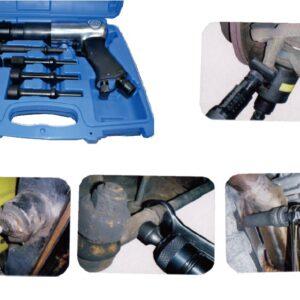 Tryckluftmejsel kit för bla p-änder och kulbult