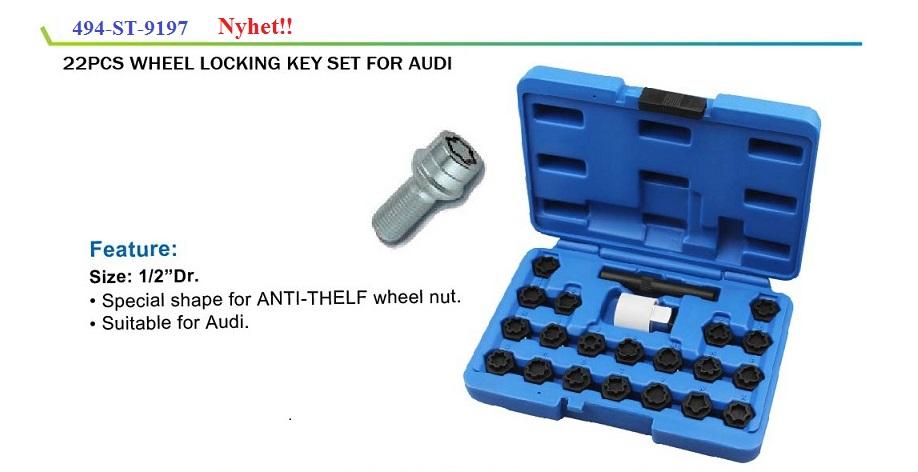 Fälglåsmutterhylsor Audi 20 st  i ett kit # CMI-067-409
