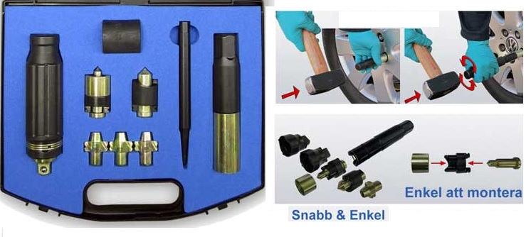 Fälglåshylss verktygsats  #CH-89566