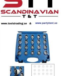 Fälglåsmutterhylsor VW  23 st i kit # CMI-671-011-2