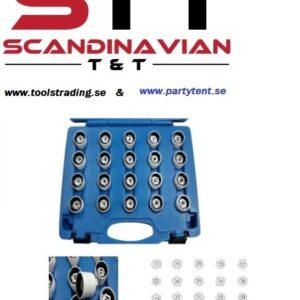 Fälglåsmutterhylsor VW  20 st  i ett kit # CMI-014-300
