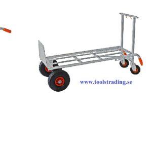 Säckkärra kombinerad vagn i aluminium