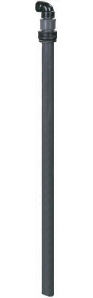Förlängningsrör i hårdplast  Ø 40 mm längd 1100 mm