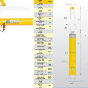 Hydraulcylinder 15 ton # CMO-450857