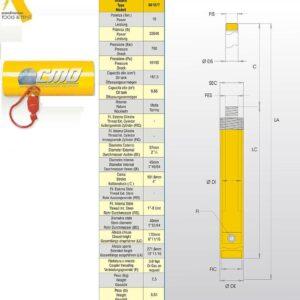 Hydraulcylinder 10 ton # Artt nr CMO-601877