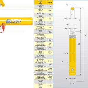 Hydraulcylinder 10 ton # Art nr CMO-602378