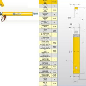 Hydraulcylinder 10 ton # CMO-MAS201