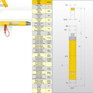 Hydraulcylinder 4 ton # CMO-MS040