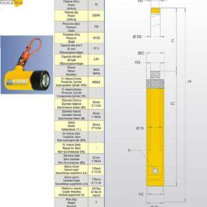 Hydraulcylinder 10 ton # CMO-MS100