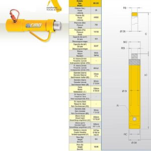 Hydraulcylinder 20 ton # CMO-MS251