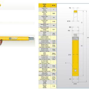 Hydraulcylinder 6 ton # CMO-MT201