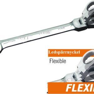 Flexibel 72 tandad ledspärrnyckel PJ-3406F-6