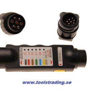 Släpvagn  Fordons släpvagns kontakt tester , 7- / 13-polig# BS-2171