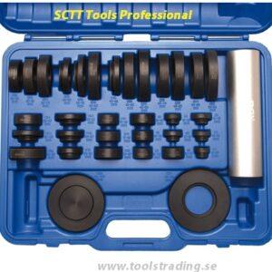 Lagermonteringsverktygssats, 34 delar sats i Nylon