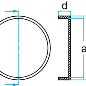 Domkraft gummipad 127 mm för AC #2789-AC-GS1  till AC DOMKRAFT