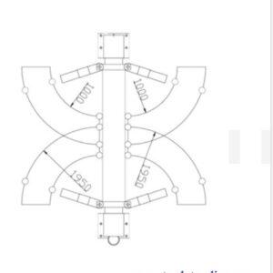 Billyft 2-pelare elektro mekanisk lyft kapacitet 5000 kg #ATH-2.50-HX3-L
