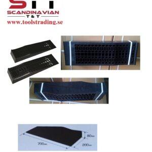 Uppkörningsramper i Special plast, klarar 2,5 ton / paret