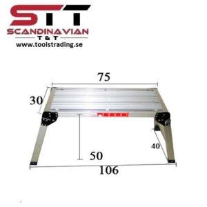 Plattform 30 x 75 x 4,5 cm / öppen 40 x 106 x 50 cm #CMI-701