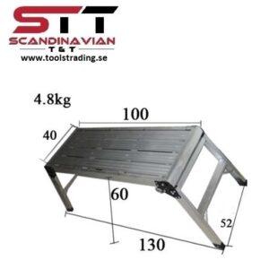 Plattform 30 x 75 x 4,5 cm / öppen 40 x 106 x 50 cm # CMI-706
