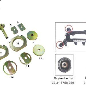 Bakvagn bussningsverktyg borttagnings / monterings kit BMW # ZHH-B0002