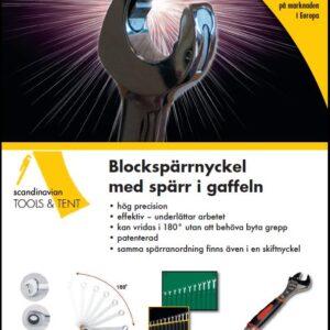 """Blockspärrnyckel SAE tum 3/8""""-13/16"""""""