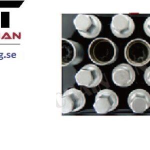 Fälglåsmutterhylsor Volvo 20 st /kit  #CH-1111200BV-SET