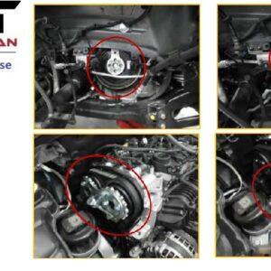 Kamaxel & motor inställningverktygs Volvo #  CH-6361-0003V