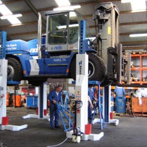 Pelar Gaffeltruck lyft 6000 kg Nordlift 2 st mobila # NDL-HDL-6000-2