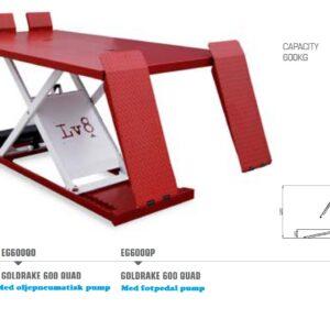 MC lyft  Guldrake 600P med fotpedal pump # TO-EG-EG600P