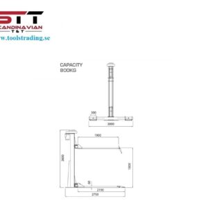 MC Lyft Guldrake elektro hydraulisk # TO-EG800-1L