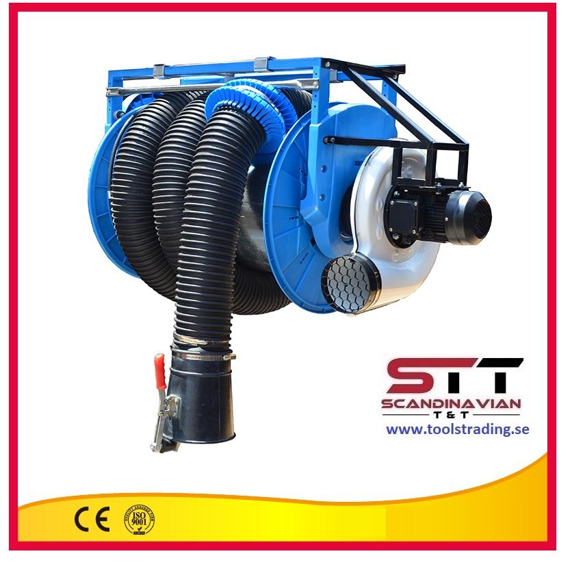 Avgasslangvinda  # SINO-81554 -  75 mm x 7 m