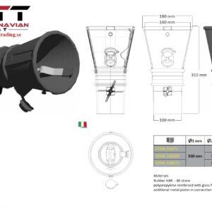 Avgasrörmunstycke mod  GRNK Konisk  munstycke 160 mm # WRK-GRNK-16075