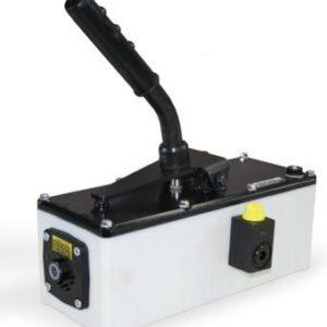 Pneumo-hydraulisk pump som drivs hävarmen