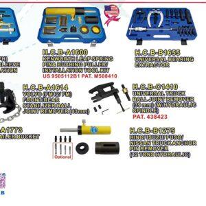 Bilspecialverktyg  H.C.B  person och tunga fordon